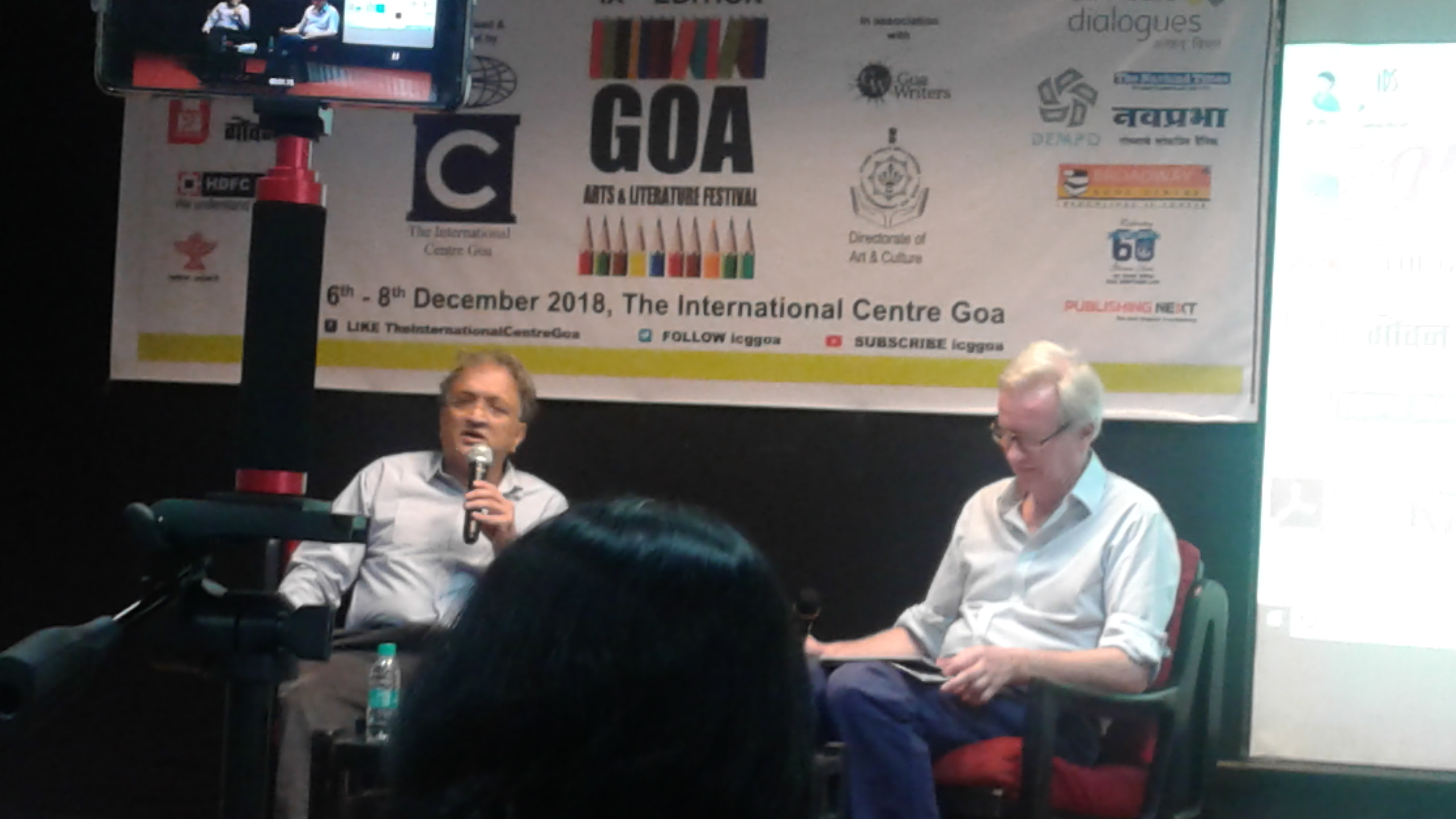 Ram Guha with David Gilmour