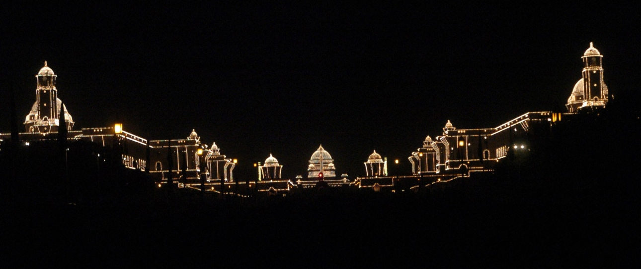 a_view_of_an_illuminated_rashtrapati_bhavan_on_the_occasion_of_60th_republic_day_celebrations,_in_new_delhi_on_january_26,_2009